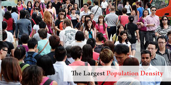 Asian Facts - The Largest Population Density