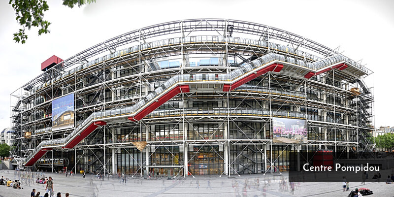 Tourist Attraction in Europe - Centre Pompidou